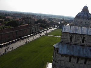 Tilted View from the Leaning Tower