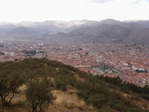 Cuzco from Sacsayhuaman