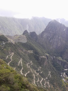 The first glimpse of Macchu Picchu and THAT road