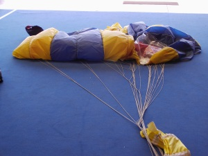 Parachute waiting to be packed