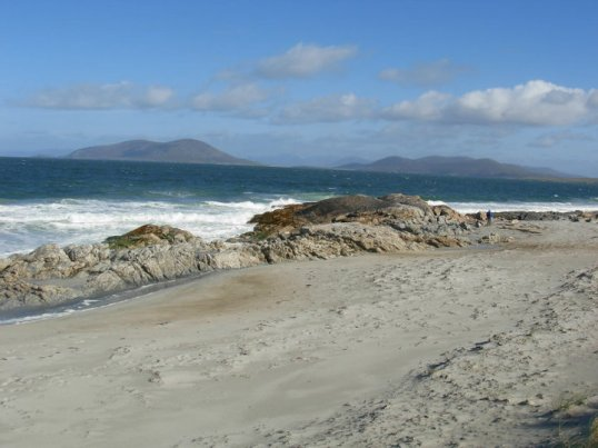 Looking towards Ensay & Killegray from a beach on Berneray