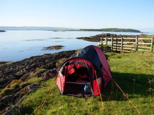 Camping on Gigha