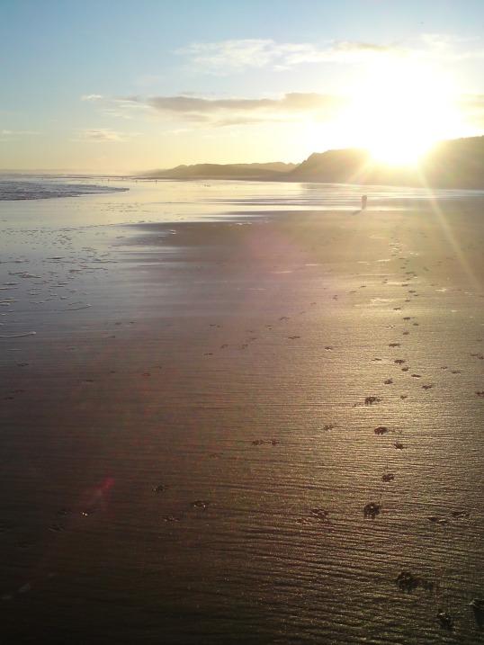 Balmedie beach north of Aberdeen
