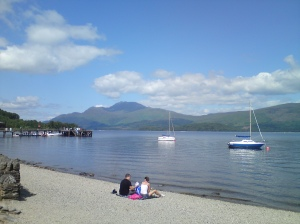 The bonnie banks of Lock Lomond at Luss