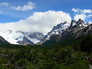 The alpine trail to Lago Torre