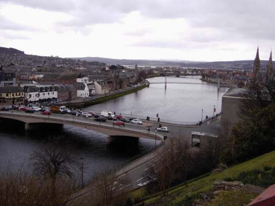 The river Ness passing through Inverness