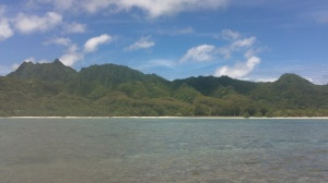 Rarotonga from the Reef