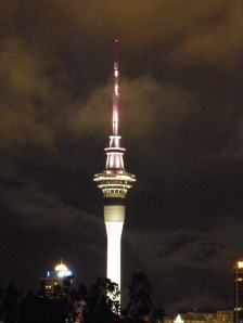 Auckland's SkyTower at night