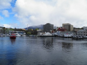 Hobart with Mt Wellington behind