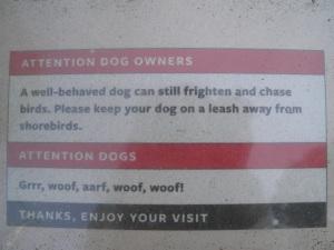 Australian humour - sign at the beach