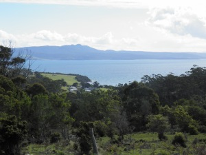 Looking across Maria Island to the mainland beyond