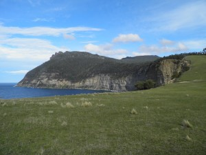 Rugged Maria Island coastline
