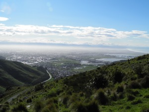 Christchurch from Summit Road