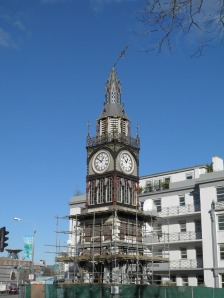Repairing the broken Jubilee clock on Victoria Street