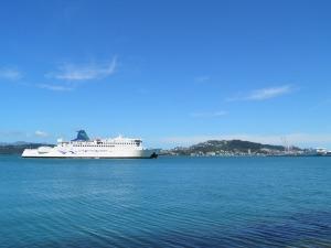 Interislander arriving at Wellington