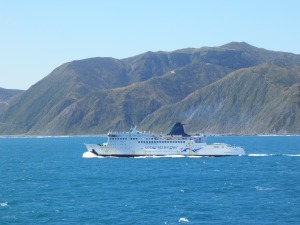 Interislander passing along the south coast of the North Island