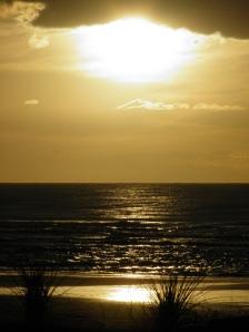 Lowering sun at Foxton Beach