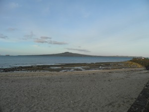 Rangitoto Island viewed from Mission Bay