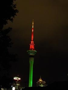 Skytower on Christmas Eve