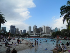 The inner city beach and pool