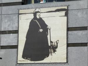 Queen Victoria on the wall of tghe casino