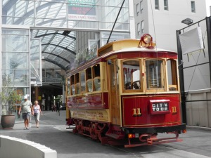 Trams in Cathedral Junction