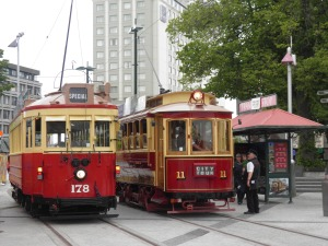 Trams at Cathedral Square