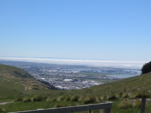 Christchurch & Pegasus Bay from the top of the Rapaki Track