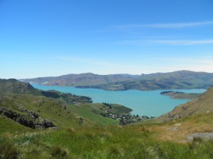 Lyttleton Harbour from Summit Road, Rapaki Track