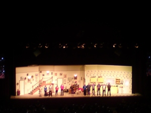 The cast of Mrs Brown's Boys at the end of the show
