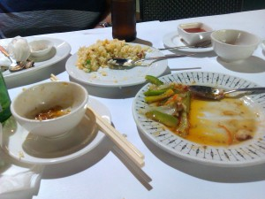 Delicious Chinese meal in Chinatown