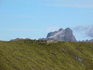 Hikers on the ridgeline