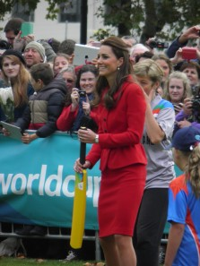 Duchess of Cambridge batting