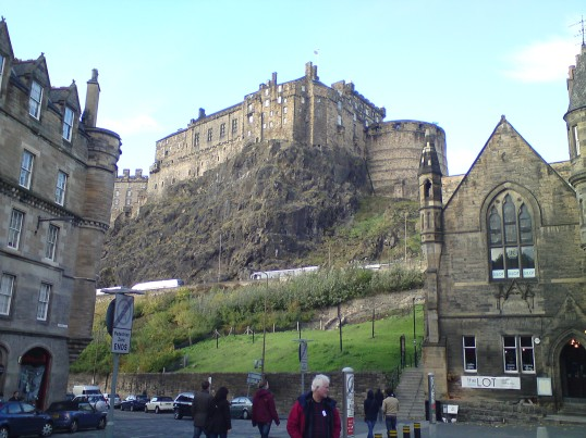 Edinburgh Castle as viewed from the back