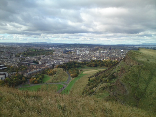 The city of Edinburgh viewed from Arthur's Seat