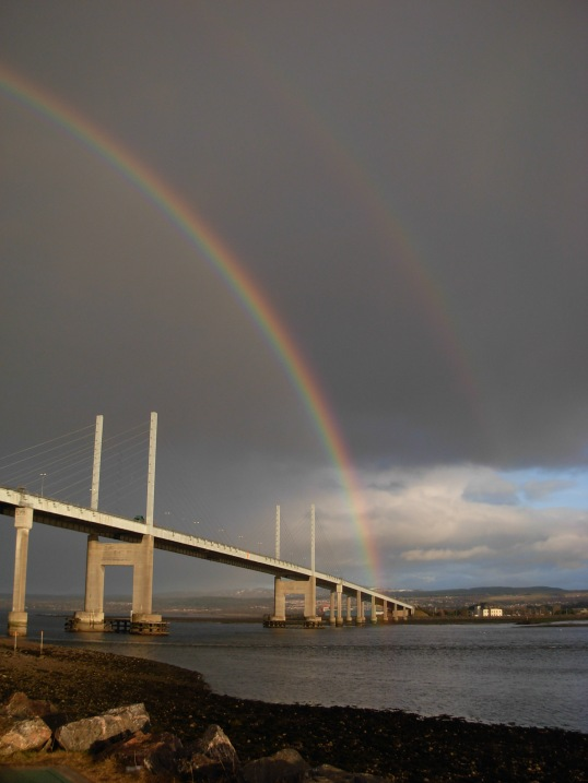Kessock Bridge spanning the Beauly Firth near Inverness