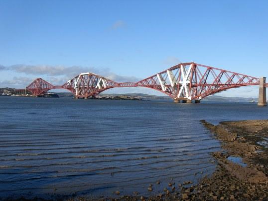 Forth Rail Bridge across the Firth of Forth near Edinburgh