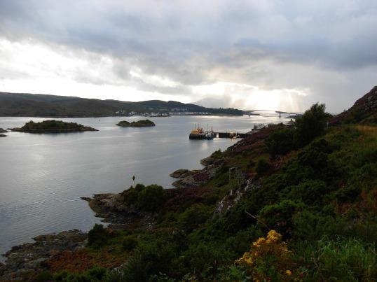 Kyle of Loch Alsh with the Skye bridge