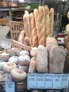 Freshly baked bread at Central Market
