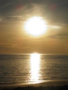 Lowering sun