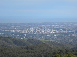 Adelaide CBD from Mt Lofty summit