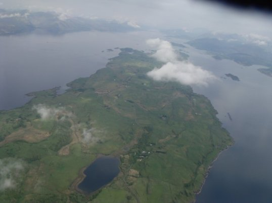 Flying over Lismore Island