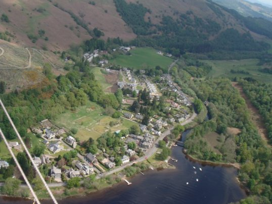 St Fillans on the bank of Loch Earn