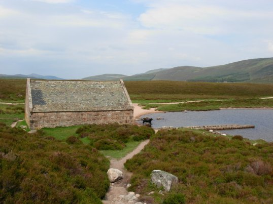 Old boathouse at Loch Muick