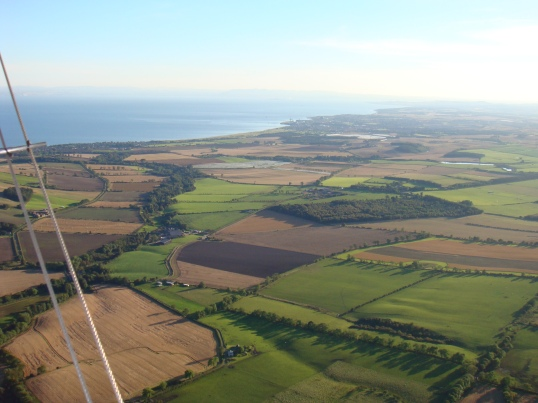 Patchwork quilt of farmland in Fife