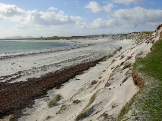 Sandy beach on Berneray