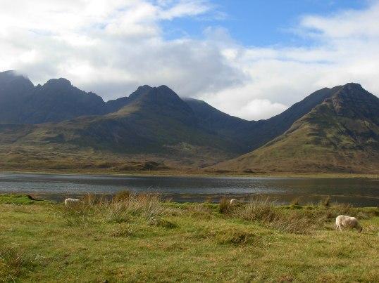 Loch Slaplin with the Cuillins Range behind