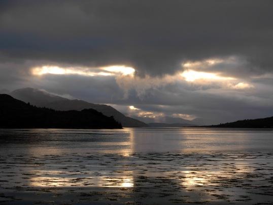 Loch Duich in the lowering sun