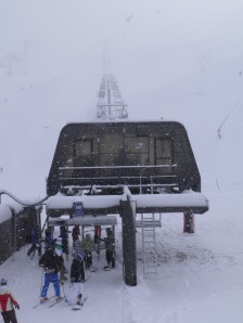 The chairlift to the clouds