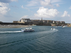 On the ferry leaving St Malo